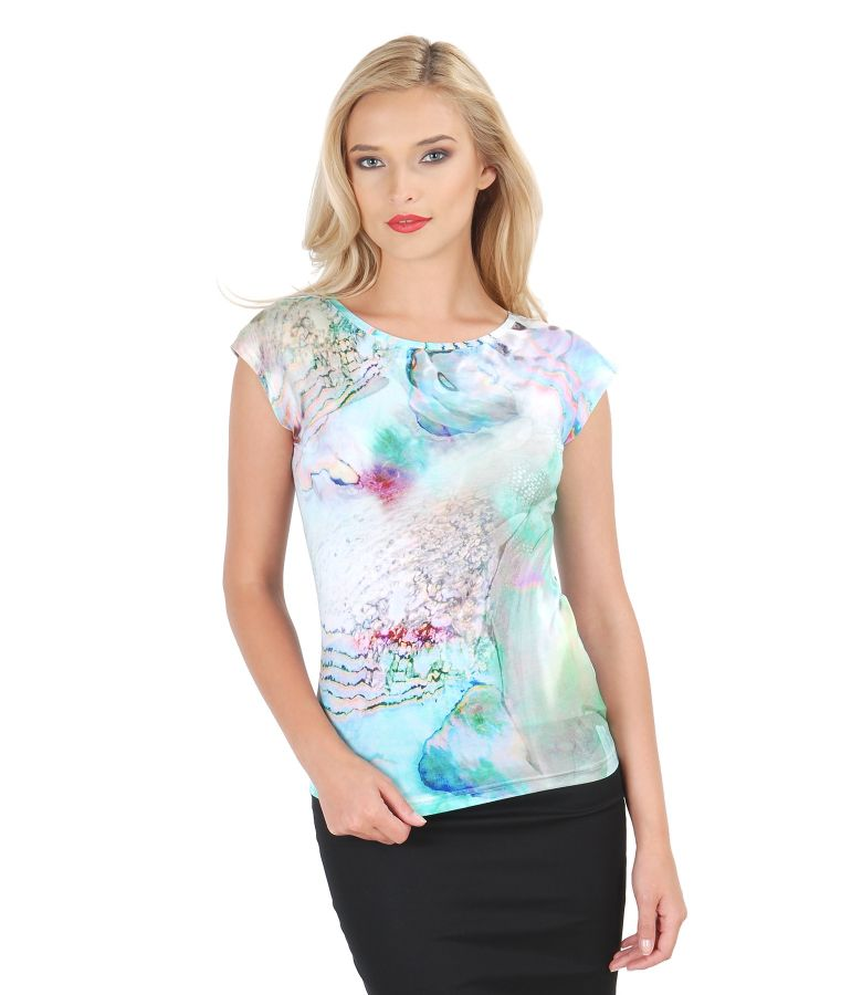 Printed jersey drop shoulder t-shirt