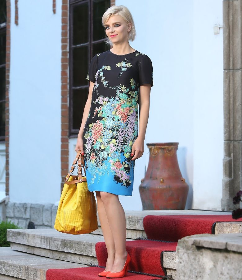 Printed dress with pockets