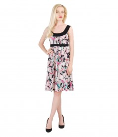 Elastic printed dress