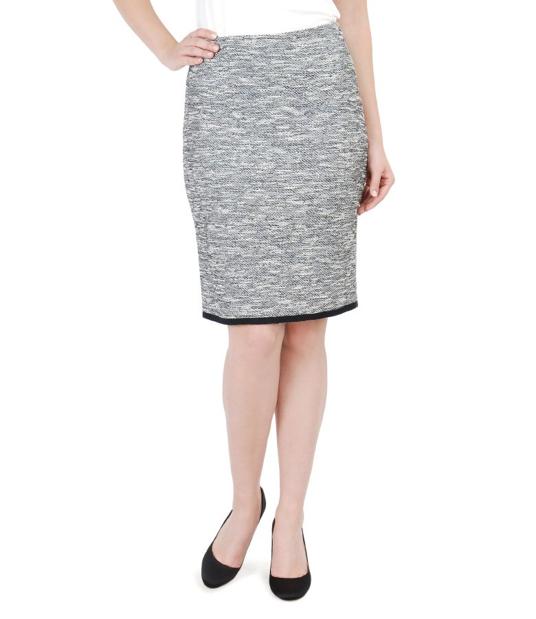 Cotton skirt with elastic loops