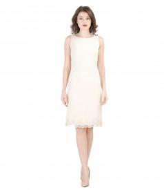 Embroided short evening dress
