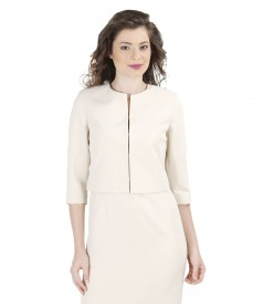Elegant jacket with trim