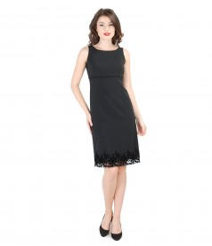 Embroided short evening dress