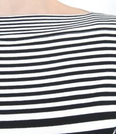 Elastic printed jersey T-shirt