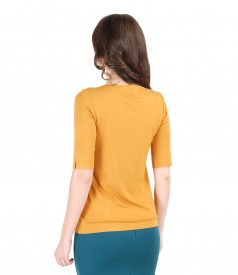 Uni elastic jersey t-shirt