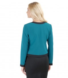 Elegant bolero with pockets and trim