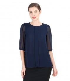 Veil blouse with feint