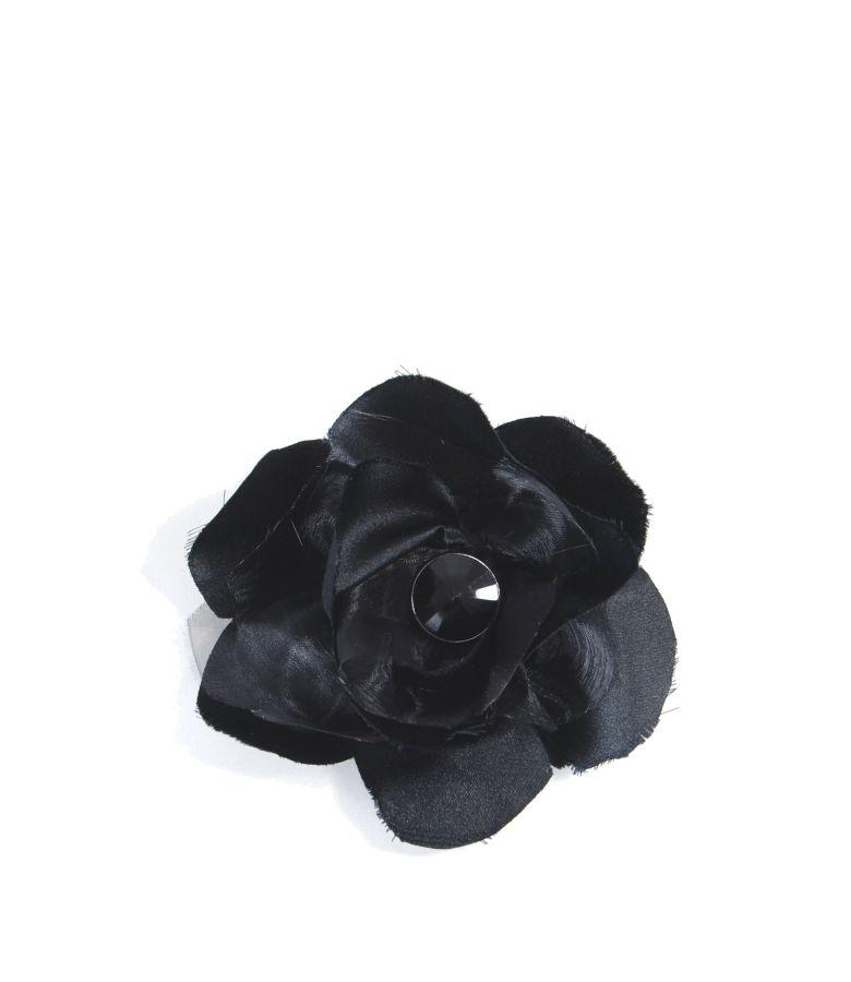 Satin flower brooch