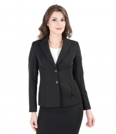 Office elastic fabric jacket with pockets