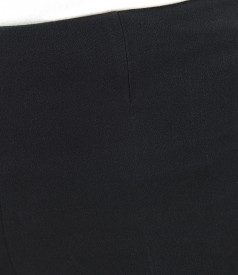 Elegant elastic fabric pants