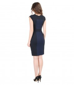 Thick elastic jersey dress with inserts