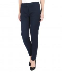 Textured cotton elastic pants