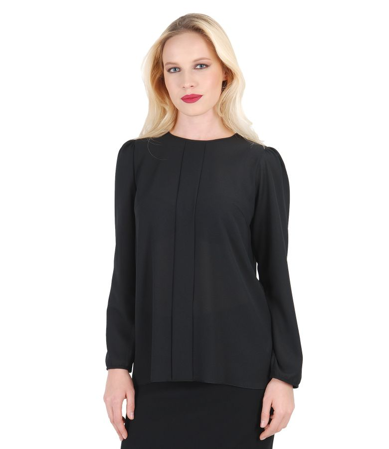 Veil blouse with dodge