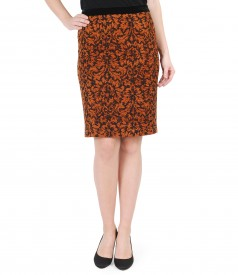 Elegant brocade skirt with velvet