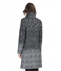 Fabrics printed with wool coat