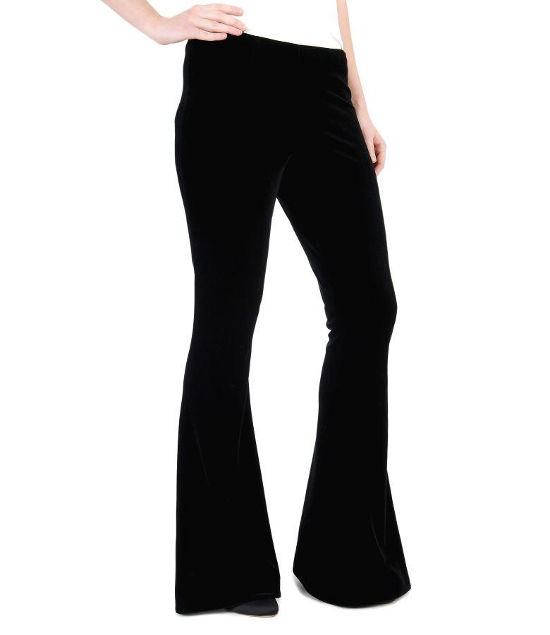 Elastic velvet flared pants elegant