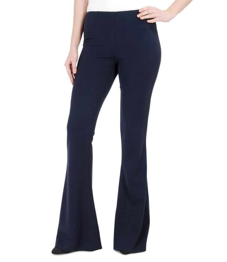 Elastic fabric flared pants