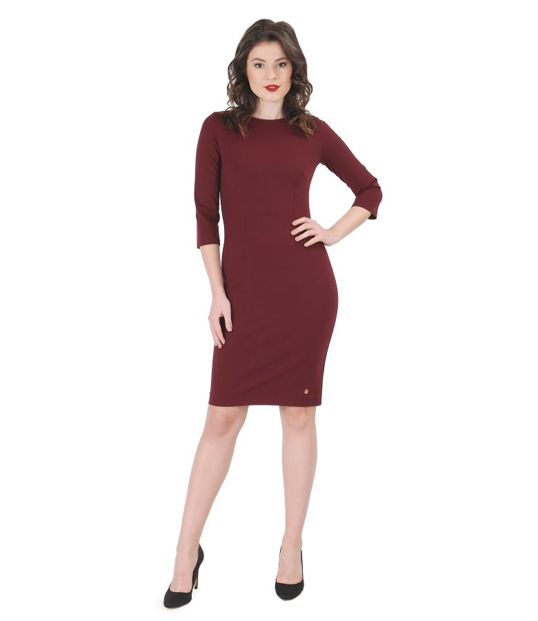 Thick elastic jersey dress
