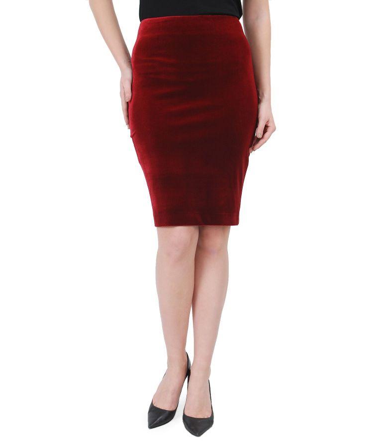 Stretch velvet elegant skirt