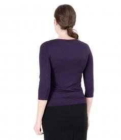 Broc elastic jersey t-shirt with velvet