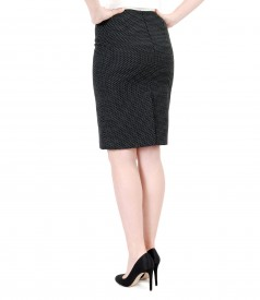 Office skirt with lace corner