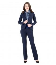 Elastic fabric office women suit with trim