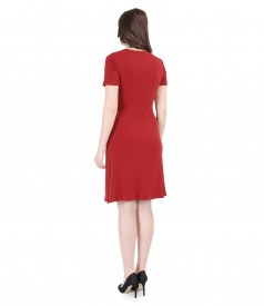 Grena jersey dress with clasp