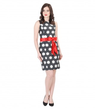 Elegant dress with dots print