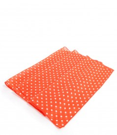 Printed veil dotted scarf