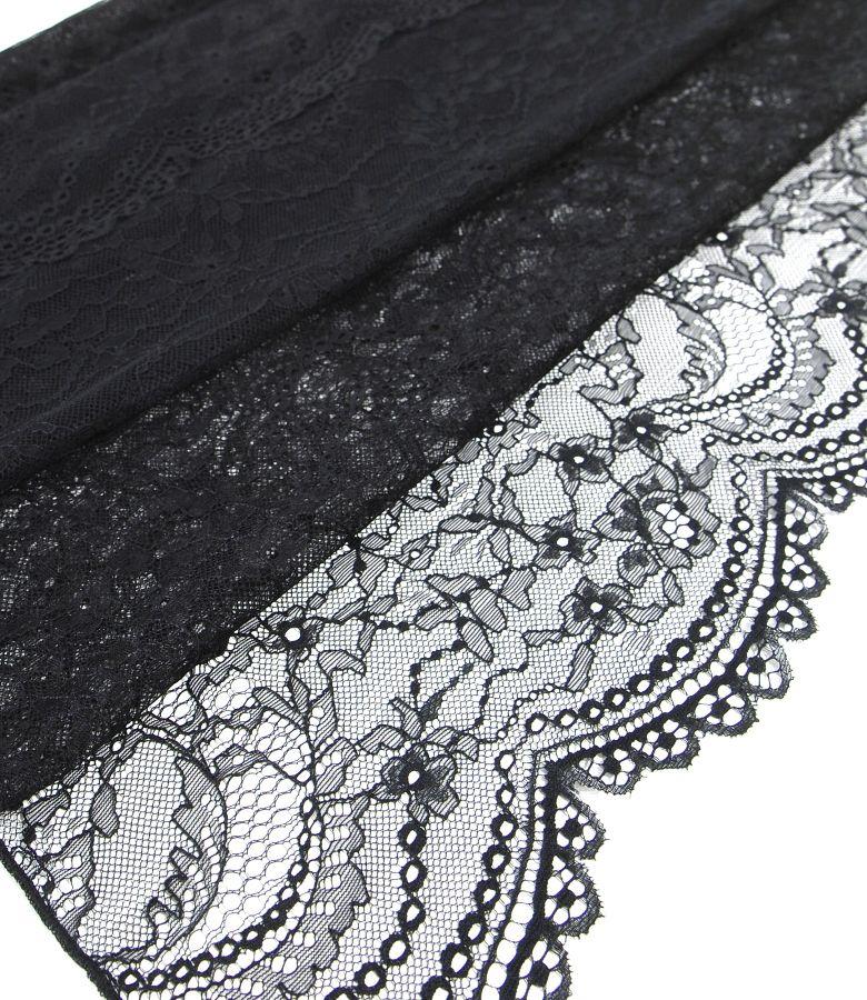Elastic lace shawl