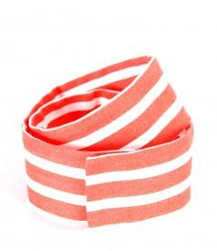 Printed cotton belt