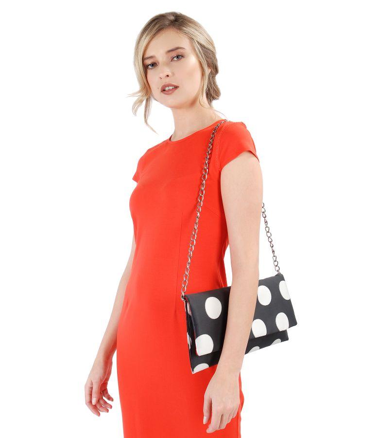 Dots printed purse