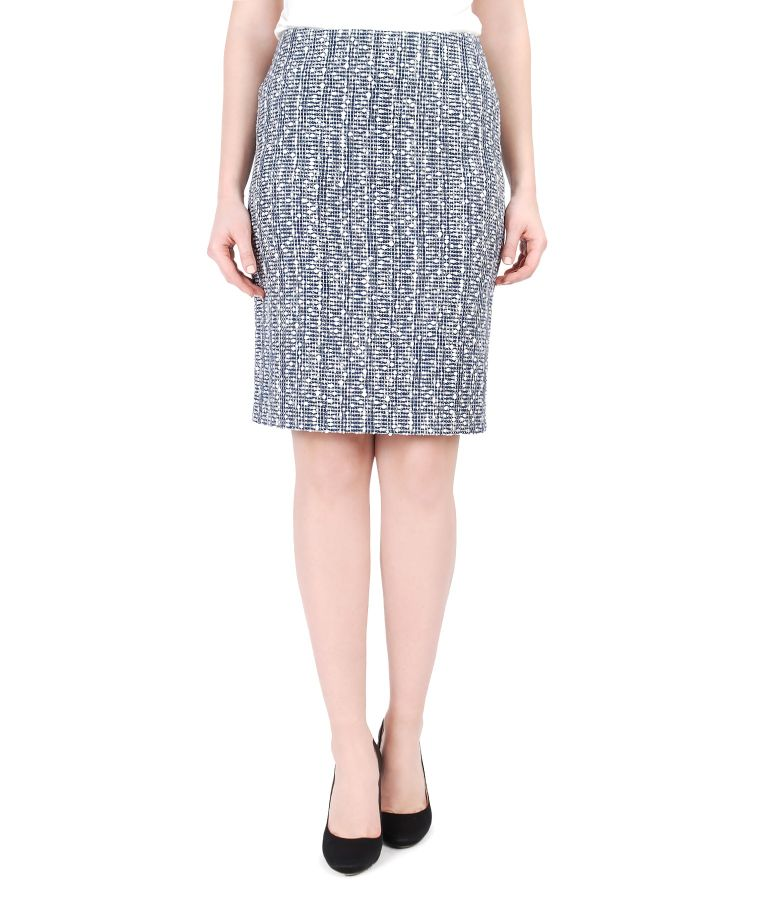 Multicolored loops cotton skirt