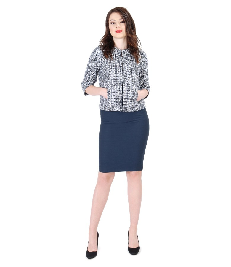 Elegant women outfit with elastic cotton loops