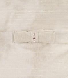Silk taffeta evening dress with folds
