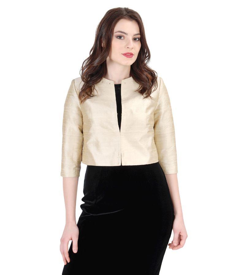Silk taffeta elegant bolero