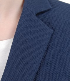 Elastic cotton office jacket