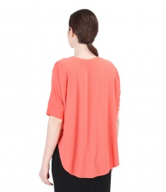 Uni elastic jersey butterfly t-shirt