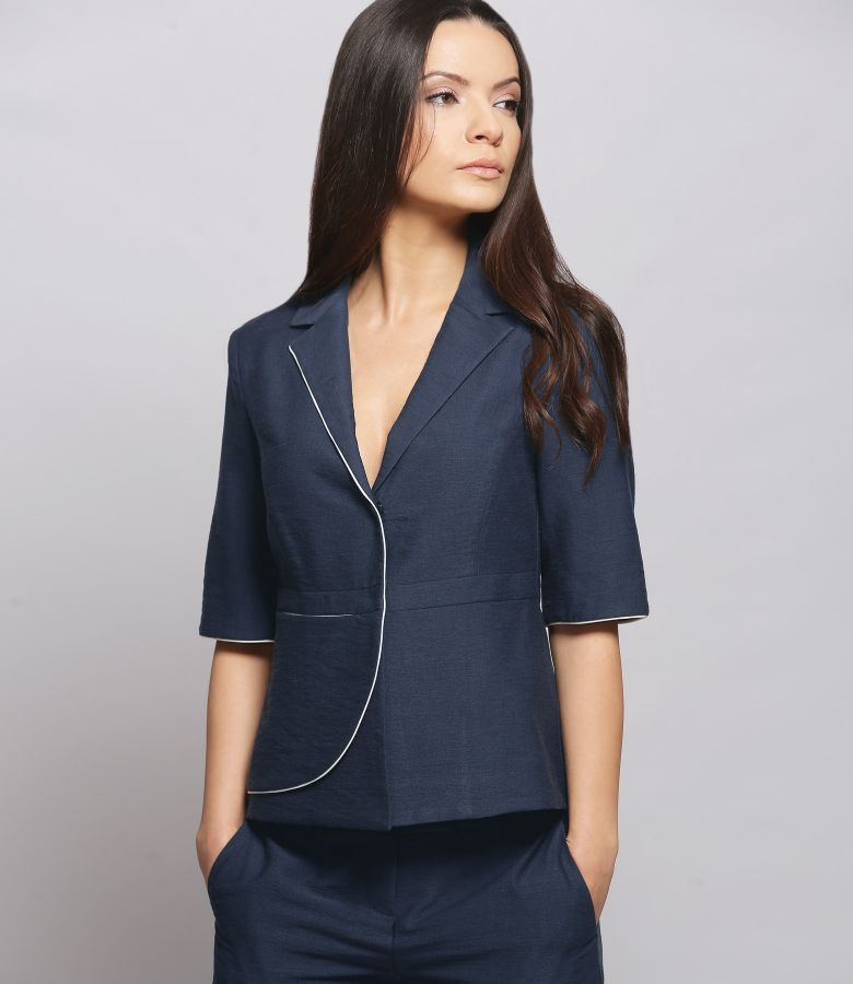 Viscose and cotton office jacket