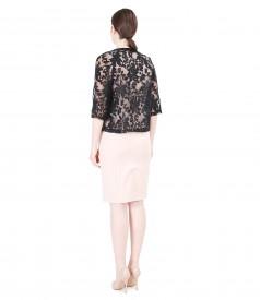 Elegant outfit with brocade organza bolero