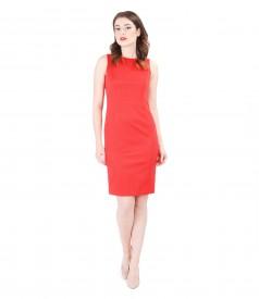 Elegant dress with textured elastic cotton