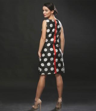 Printed with dots elegant dress