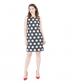 Printed with dots elegant dress