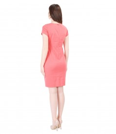 Textured elastic cotton elegant dress