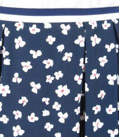 Printed viscose flaring skirt