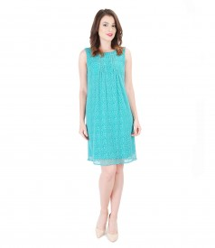 Lace dress with front folds