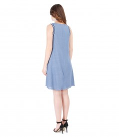 Casual flax jersey dress