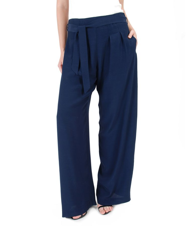 Viscose wide pants