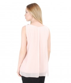 Veil blouse with front folds