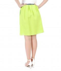 Flax flaring skirt